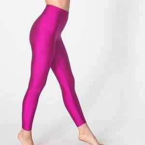 American apparel shiny tricot leggings (magenta)
